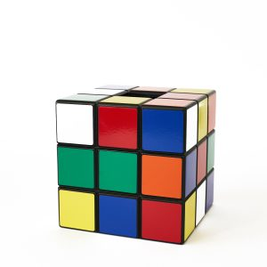 Uniquely Geek Rubrics Cube tissue box color sides two