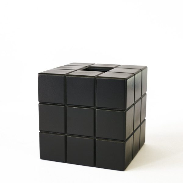 Uniquely Geek Rubrics Cube tissue box blank sides three