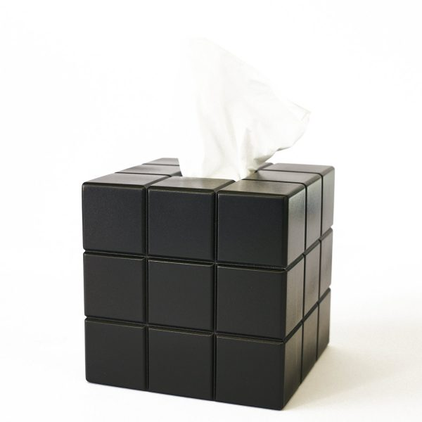 Uniquely Geek Rubrics Cube tissue box blank sides two