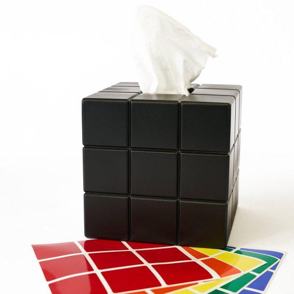 Uniquely Geek Rubrics Cube tissue box blank sides