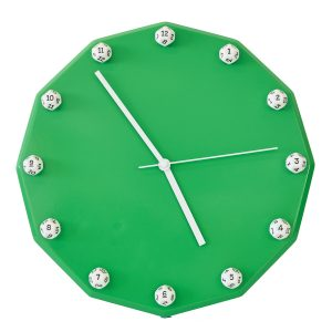 Uniquely Geek custom dice clock green
