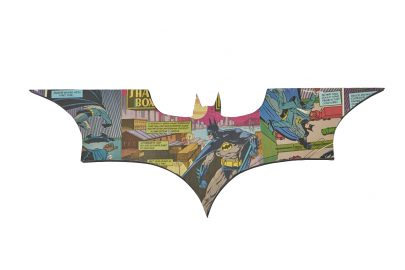 Uniquely Geek Batman Begins logo comic book wall art