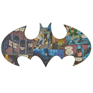 Uniquely Geek Batman logo comic book wall art