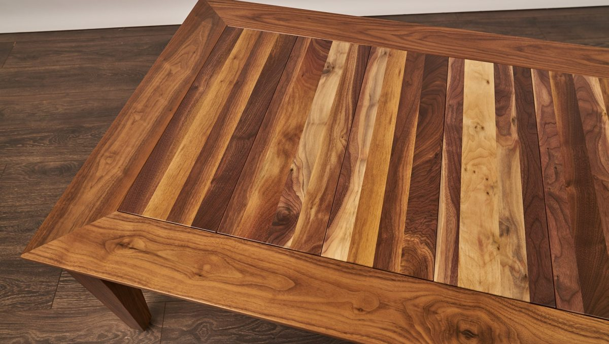 Uniquely Geek custom gaming table custom walnut
