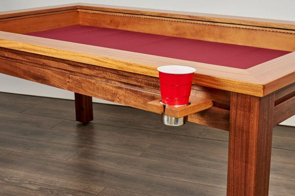 Custom gaming table rail attachment regular cup holder with plastic solo cup