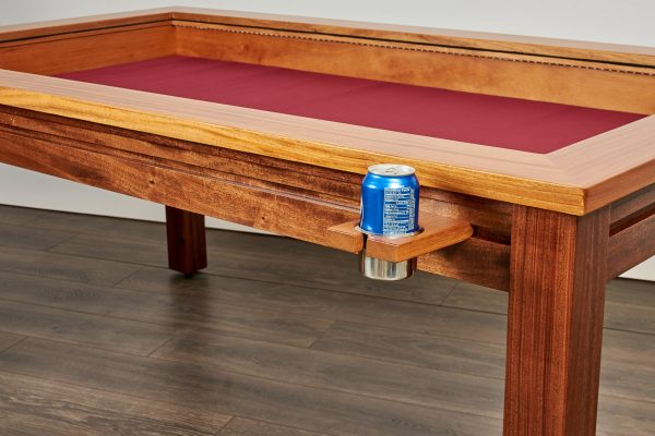Custom gaming table rail attachment regular cup holder with soda can