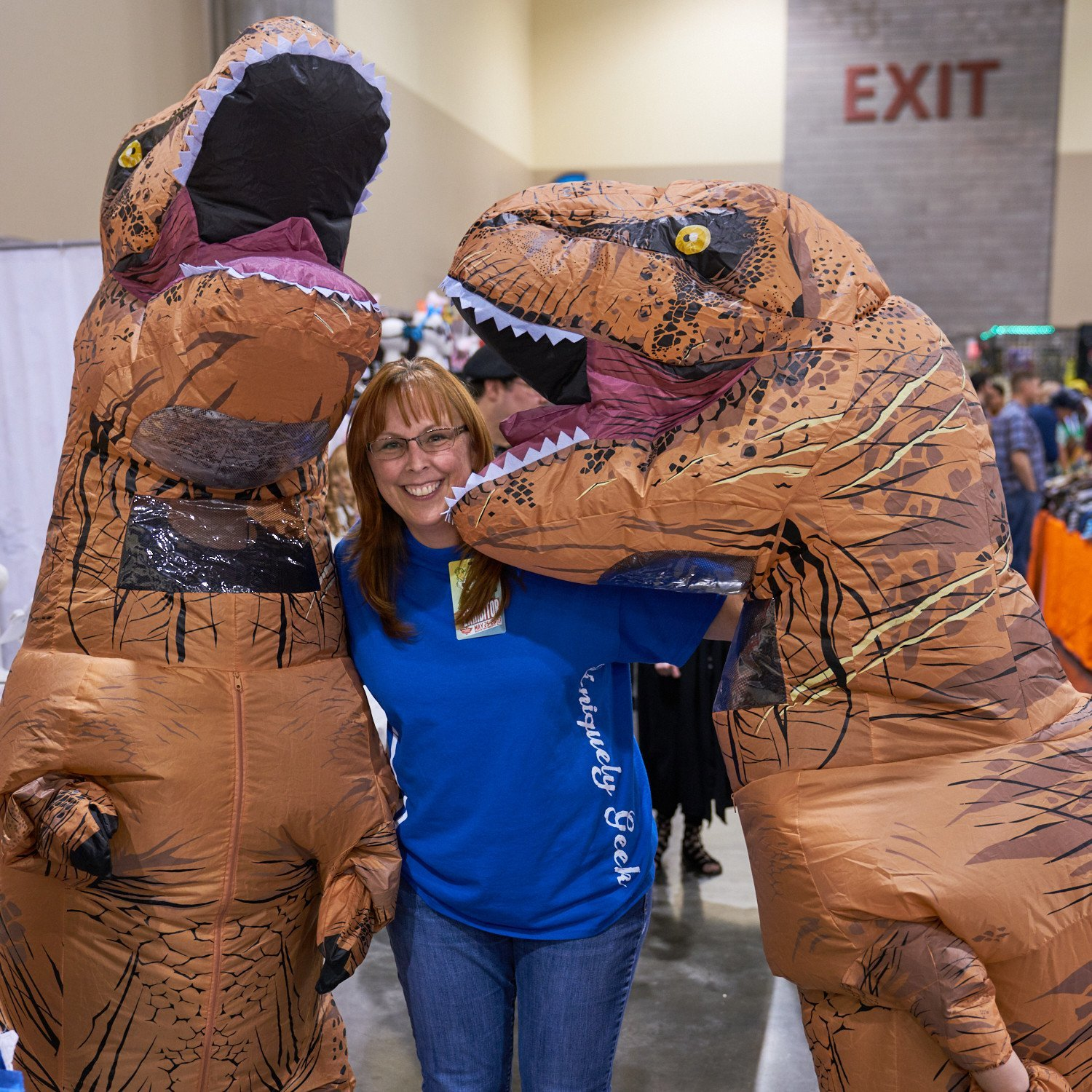 Uniquely Geek Comicon 2017 DINO picture