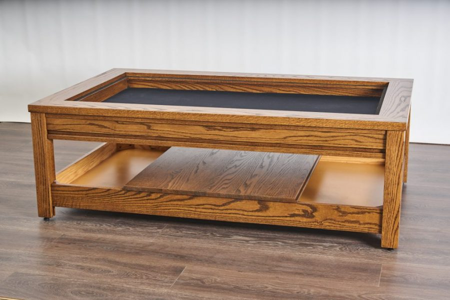 Table Line: Viscount   Table Style: Rustic   Wood: Red Oak   Stain:Orichalcum