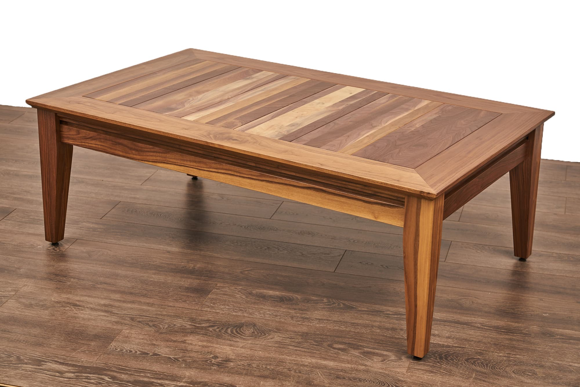 The Earl board gaming table in Rustic Hickory