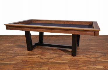 Radcliffe Modern Custom board gaming trestle table high character walnut wood